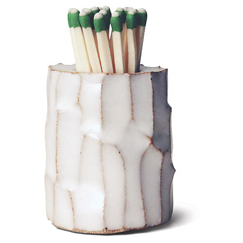 "2"" Log Match Striker, White/Natural"