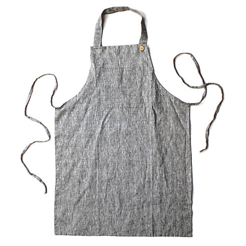 Washed Apron, Dark Gray