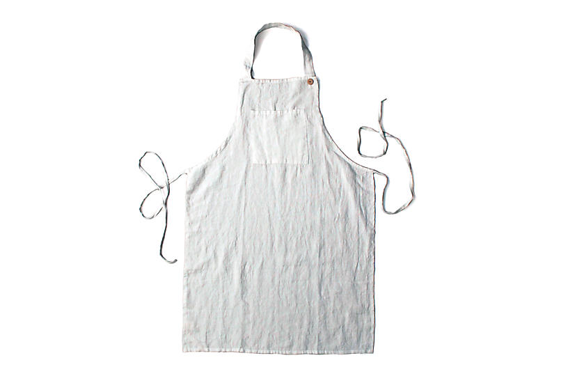 Washed Apron, Pearl