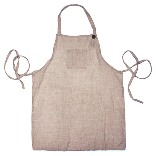 Washed Apron, Beige