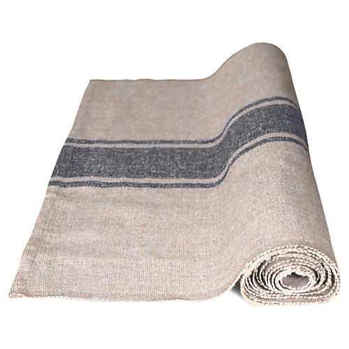 Handloom Table Runner, Natural/Gray