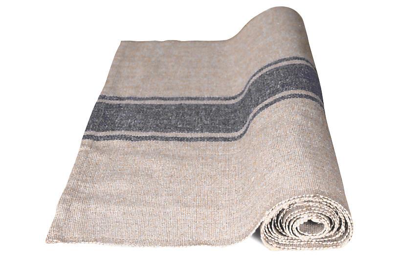Handloom Table Runner, Natural/Gray