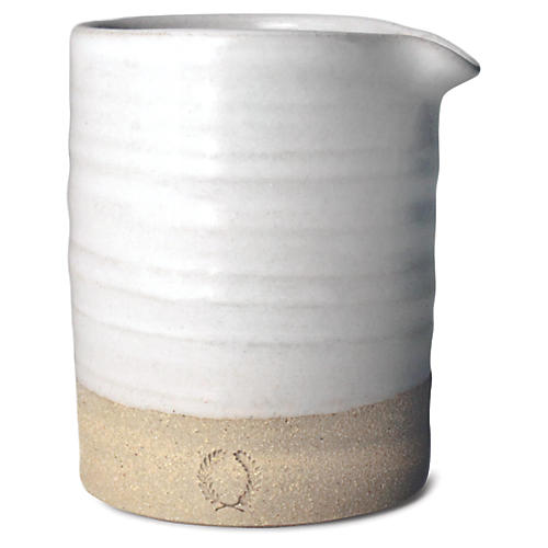 Silo Creamer, Natural/White