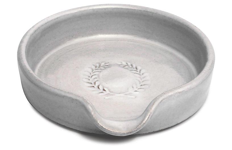 Laurel Spoon Rest, White