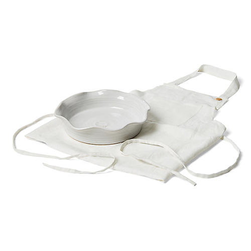 S/2 Laurel Dish Gift Set, White