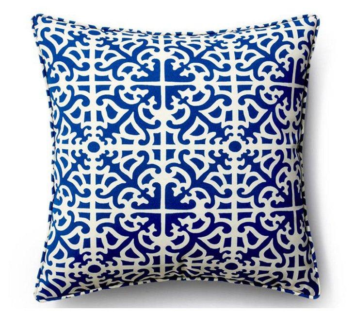 Malibu 20x20 Outdoor Pillow, Blue