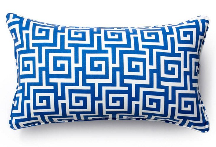 Puzzle 12x20 Outdoor Pillow, Blue