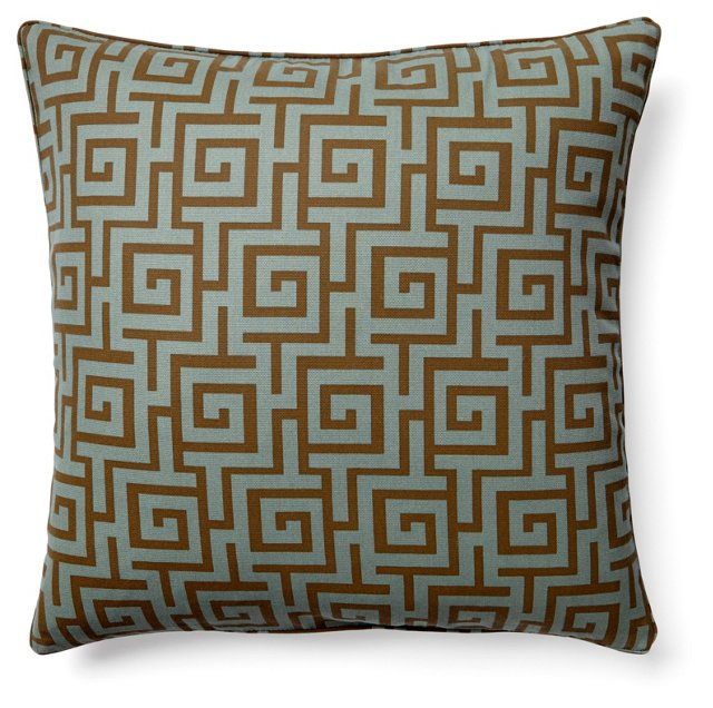 Puzzle 20x20 Pillow, Blue-Gray