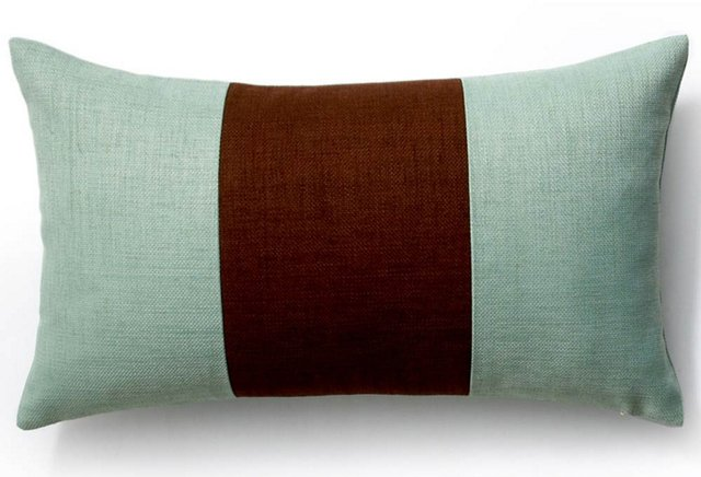 Pieces 12x20 Outdoor Pillow, Chocolate