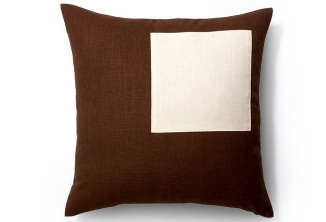 Pieces 20x20 Outdoor Pillow, Chocolate