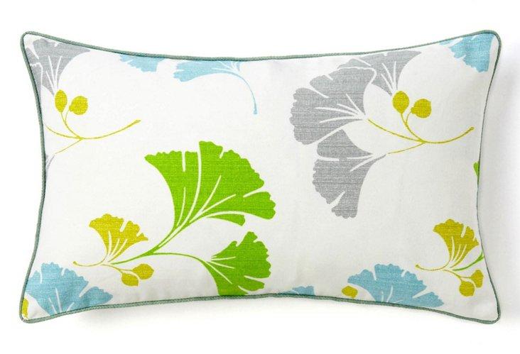 Gingko 12x20 Cotton Pillow, Multi