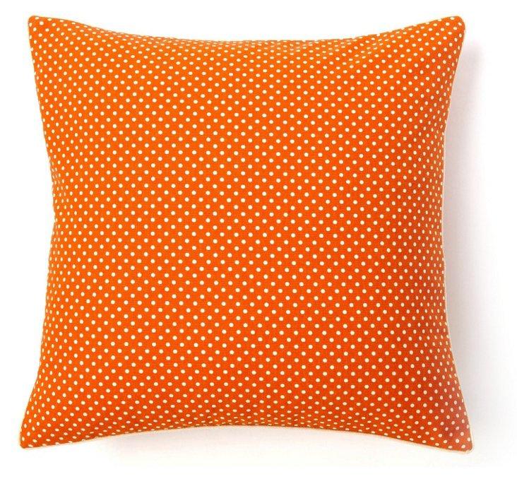 Jiti 20x20 Dottie Pillow, Orange