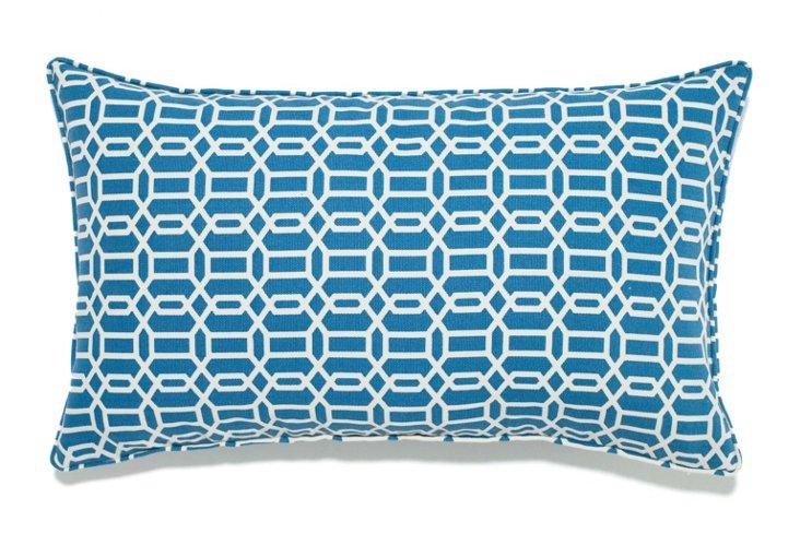 Mosaic 12x20 Outdoor Pillow, Blue