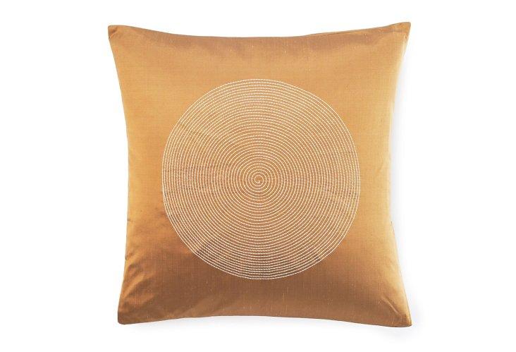Spiral 20x20 Pillow, Gold