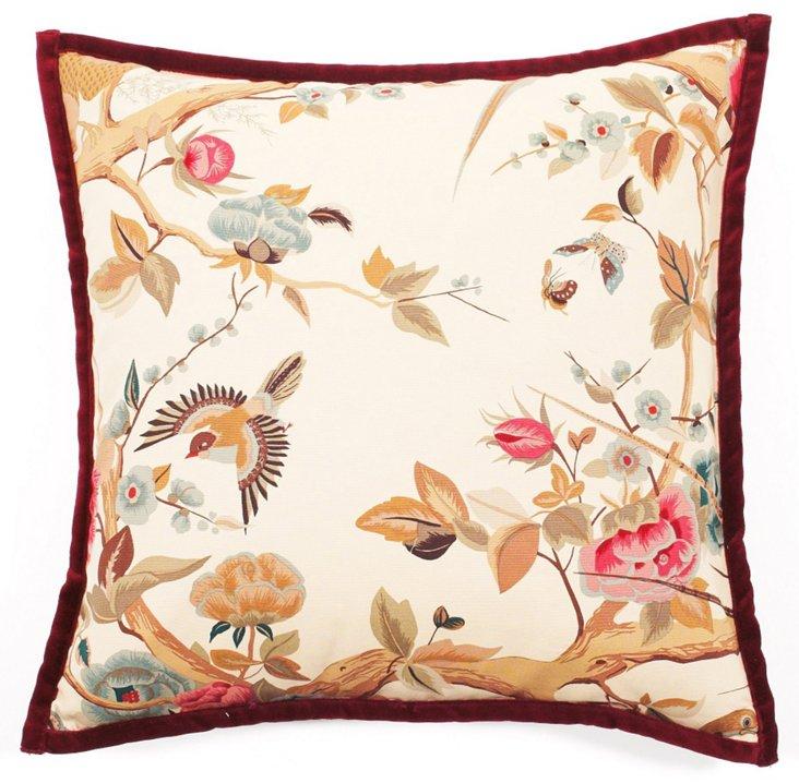 Alita 20x20 Pillow, Rose