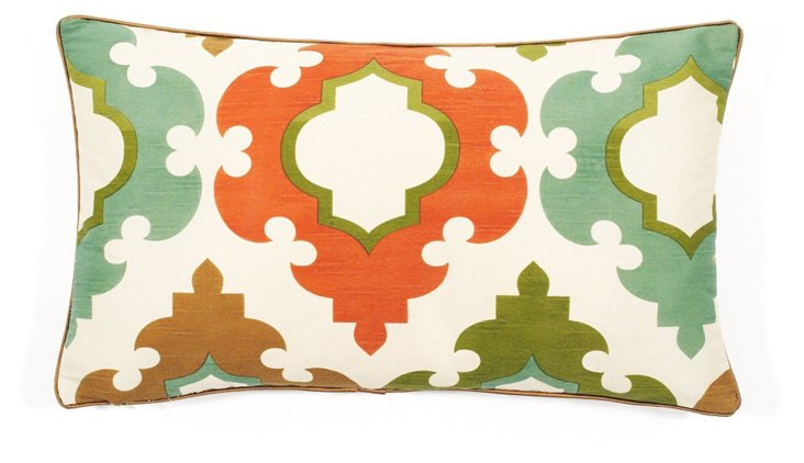Turkey Tiles 12x20 Pillow, Aqua