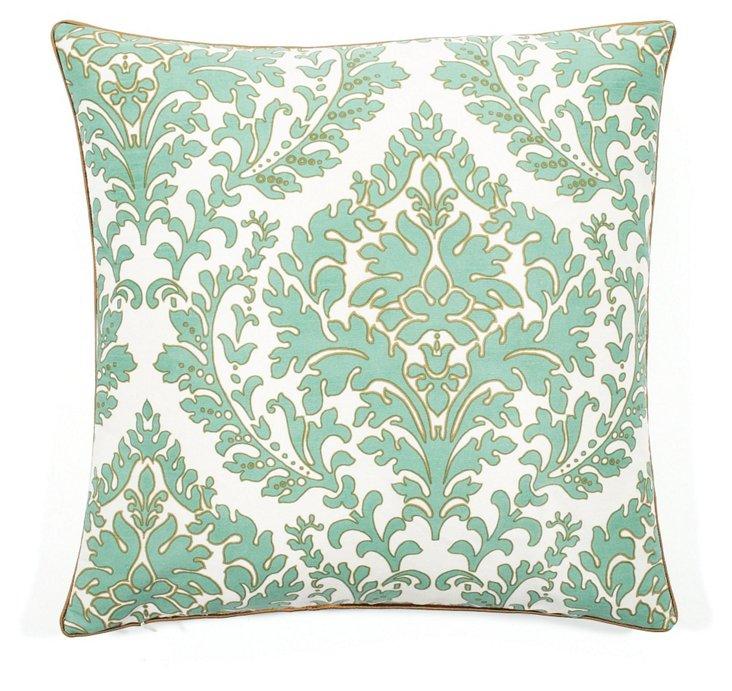 Leaves 20x20 Pillow, Aqua