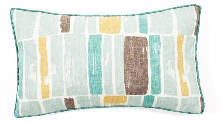 12x20 Martin Wall Pillow, Aqua