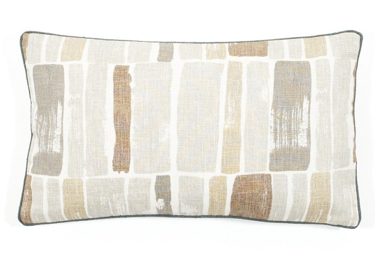 Martin Wall 12x20 Cotton Pillow, Gray