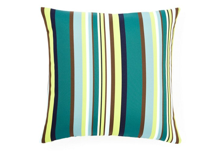 Aloe Stripes 20x20 Pillow, Teal