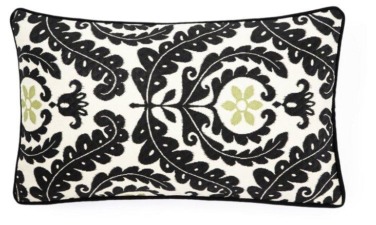 Shine 12x20 Outdoor Pillow, Black