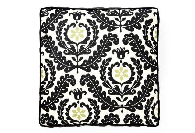 Shine Outdoor Floor Pillow, Black