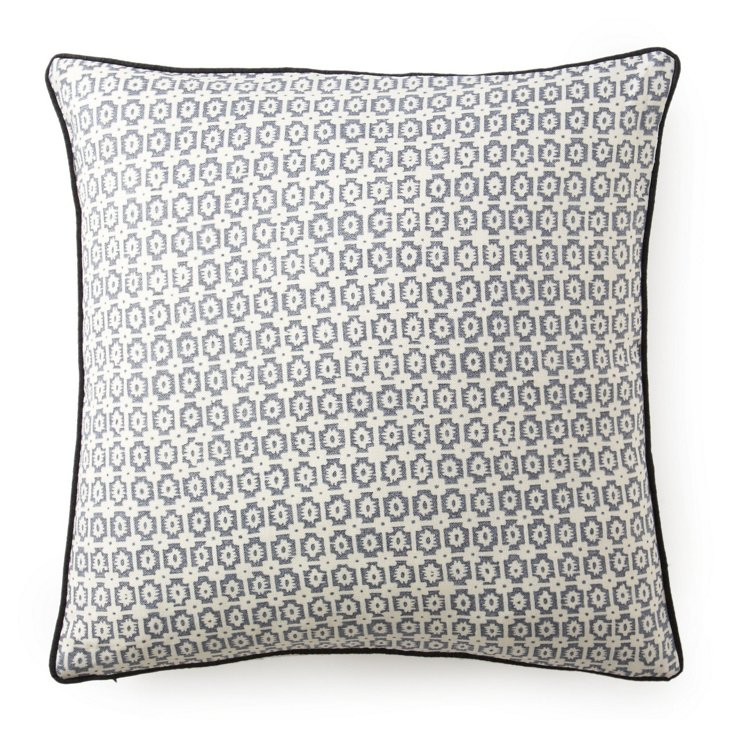 Diana 20x20 Cotton Pillow, Pewter