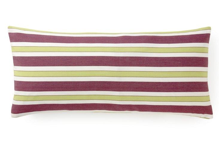 "Funstripes 12"" x 26"" Pillow, Purple"