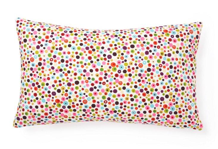 Splash 12x20 Cotton Pillow, Pink