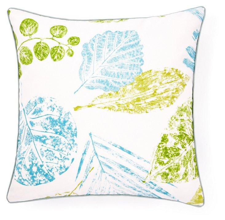Grapeleaf 20x20 Outdoor Pillow, Aqua