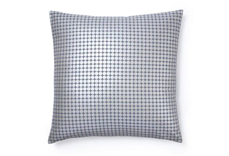 Disco Dot 20x20 Cotton Pillow, Gray
