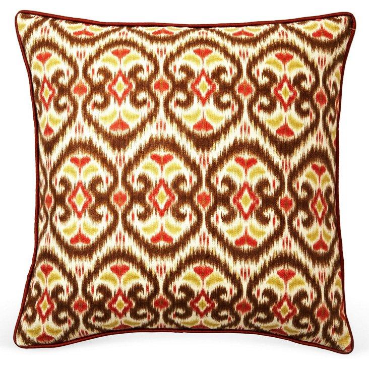 Bali 20x20 Linen-Blend Pillow, Tan