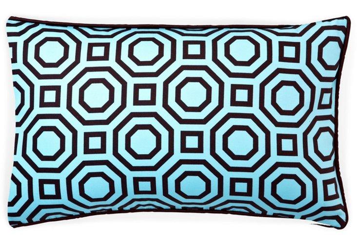 Labyrinth 12x20 Cotton Pillow, Blue