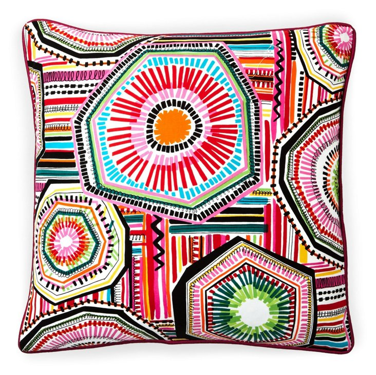 Native 20x20 Cotton Pillow, Red/Multi