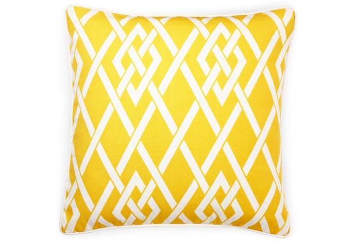 Point 20x20 Outdoor Pillow, Yellow