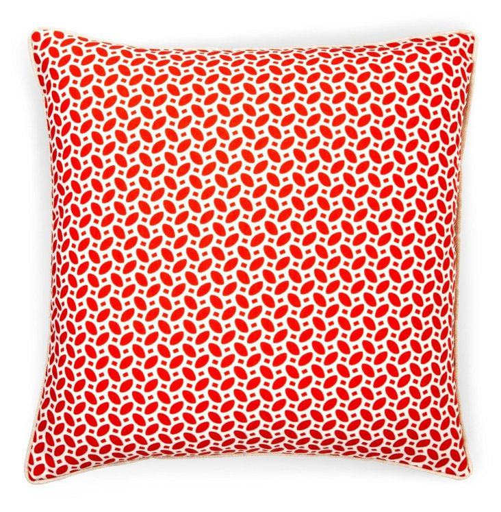 Pik Pak 20x20 Outdoor Pillow, Red