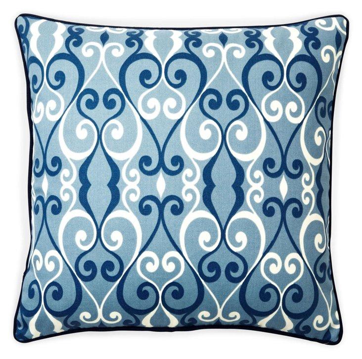 Iron 20x20 Outdoor Pillow, Blue