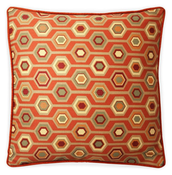 Recoleta 20x20 Outdoor Pillow, Orange