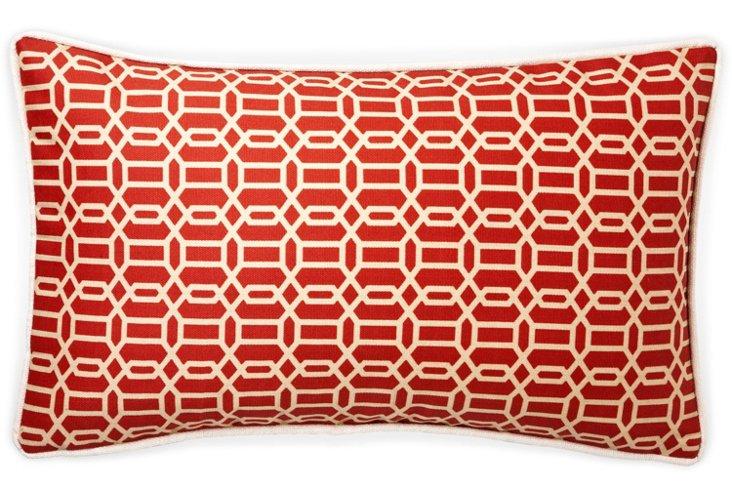 Mosaic 12x20 Outdoor Pillow, Red