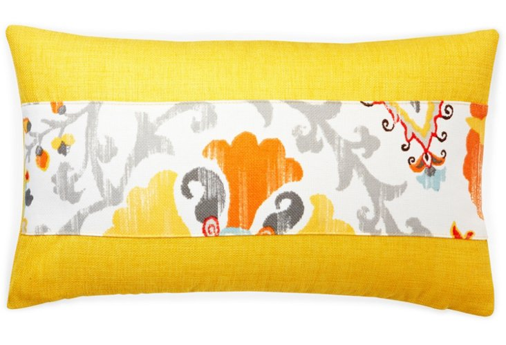Patchwork 12x20 Outdoor Pillow, Yellow