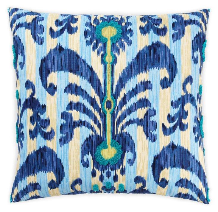 Java 26x26 Cotton Pillow, Blue
