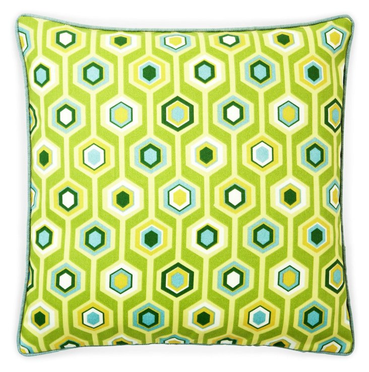 Recoleta 20x20 Outdoor Pillow, Green