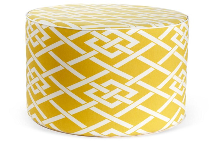 Point Outdoor Pouf, Yellow
