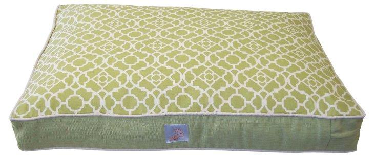 Moroccan Pet Bed, Green