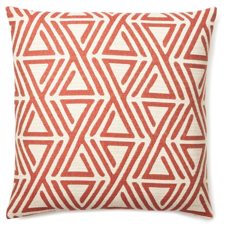 Direction 20x20 Cotton Pillow, Red