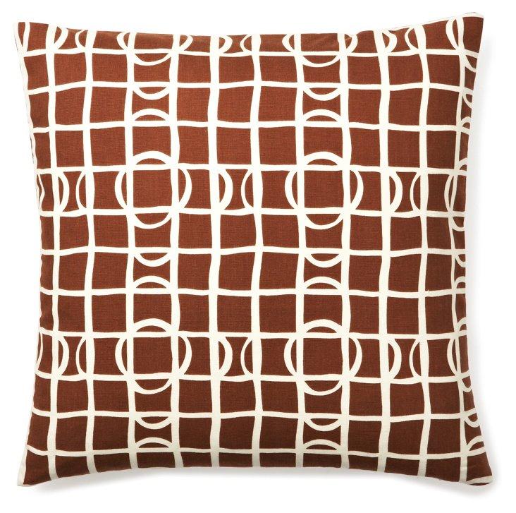 Sonar 20x20 Pillow, Brown