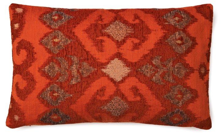 Patterned 12x20 Pillow, Orange