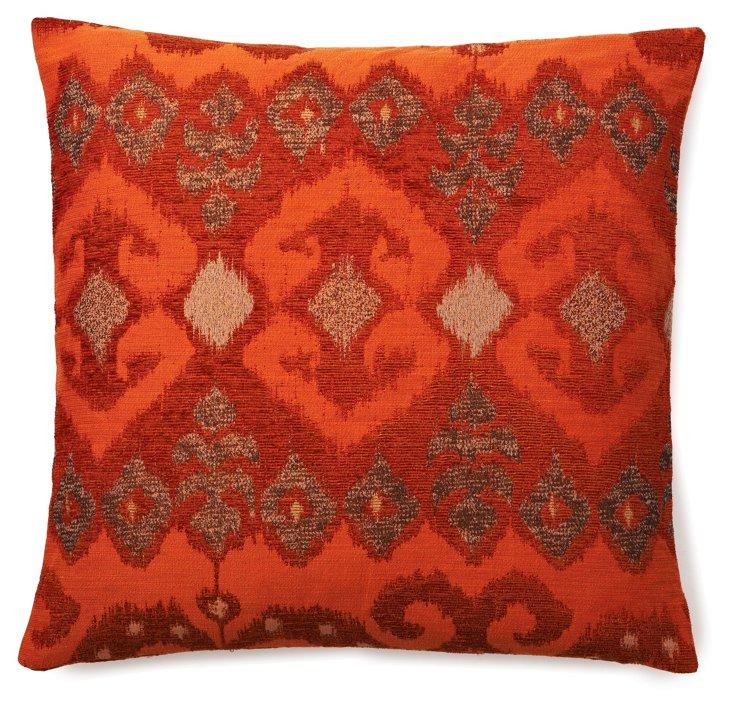 Patterned 20x20 Pillow, Orange