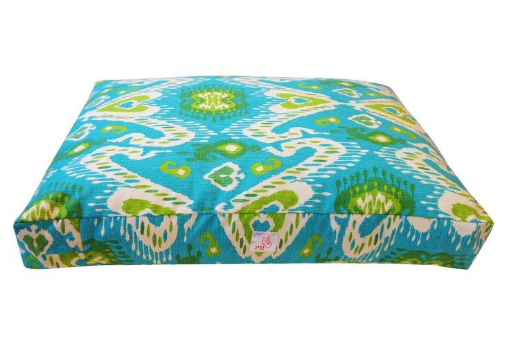 Coriander Pet Bed, Blue/Green