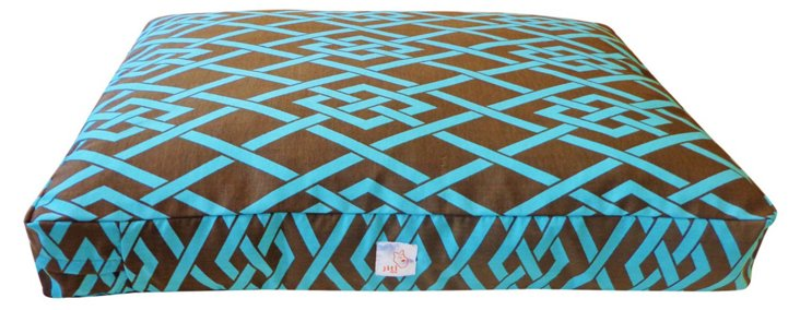 Point Pet Bed, Brown/Turquoise